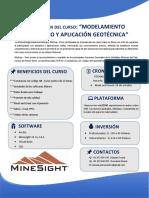 TEMARIO Curso_Modelamiento Geológico y Aplicación Geotécnica