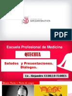PPT Semana 4 Saludos y presentaciones. Dialogos