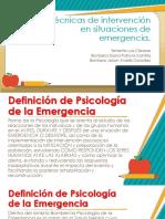 psicologia en emergecnia