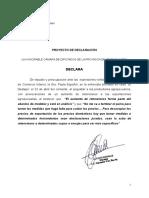 Proyecto de Declaración - REPUDIO - Expresiones Paula Español