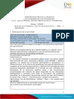 Guía de actividades y rúbrica de evaluación - Unidad 1 -