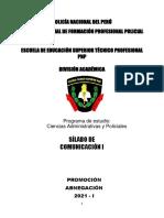 Silabo y Modulo Comunicacion i 2021 405 0