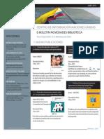 Boletín Novedades Biblioteca Centro de Información de las Naciones Unidas