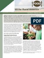 A Farm Bill for Rural America