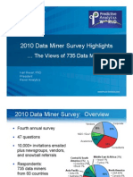 2010 Data Miner Survey