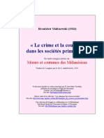 Bronislaw Malinowski - crime_et_coutume