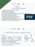 2-1 Y2-2 INICIO DE UNIDADMATRICES Y DET