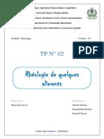 TP2 Rhéologie