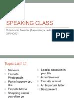 Speaking Class 24042021