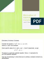 Elimination of Arbitrary Constants