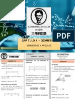 CAPITULO 1 - SEGMENTOS, ANGULOS Y ANGULOS EN PARALELAS  - SM 2021