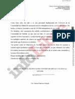 Carta Consejería de Educación vacunación profesores Madrid