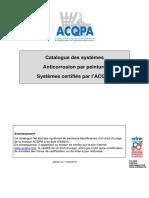 Catalogue de Certification Peinture Anti Corrosion