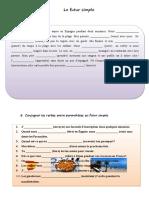 Le Futur Simple Exercice Grammatical Feuille Dexercices 87735