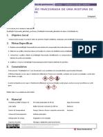 Al 2.1 – Destilação Fracionada de Uma Mistura de Três Componentes - Continuação