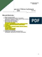 Microsoft Word Programme