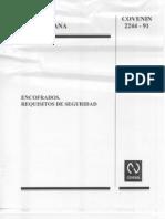 COVENIN 2244-91-ENCOFRADOS, REQUISITOS DE SEGURIDAD