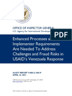 Enhanced Processes and Implementer Requirements Are Needed To Address Challenges and Fraud Risks in USAID's Venezuela Response