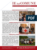 Notizie Dal Comune di Borgomanero del 30-04-2021