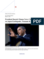 President Barack Obama News Conference on Massive Japan Earthquake, Tsunami & Gas Prices in America