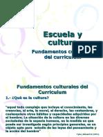 Fundamentos Culturales Del Curriculum