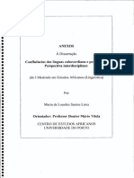 Confluências Das Línguas Caboverdiana e Portuguesa. Perspectiva Interdisciplinar. (Do I Mestrado Em Estudos Africanos (Linguística)