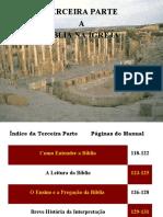 Terceira Parte - A Bíblia Na Igreja