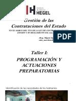 TALLER I - PLANIFICACION Y ACTUACIONES PREPARATORIAS