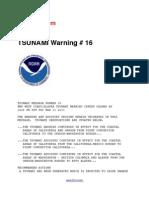 Tsunami warning # 16