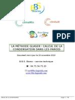 CALCUL DE LA CONDENSATION - GLASER