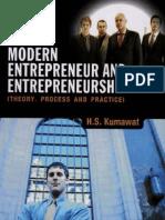 Modern Entrepeneur and Entrepeneurship