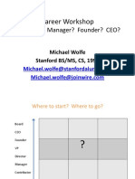 Michael Wolff Career Presentation Stanford