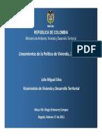 Ministerio de Vivienda- Santos