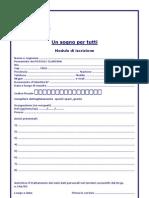 Modulo Di Registrazione