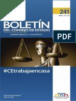 Boletín del Consejo de Estado - Jurisprudencia y conceptos - 241