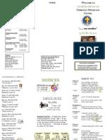 Newsletter 13 Mar 2011