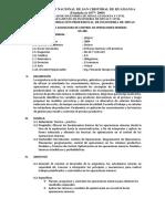 SÍLABOS DE LA ASIGNATURA DE CONTROL DE OPERACIONES MINERAS-UNSCH 2021