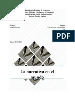 La narrativa en el mundo - Actividad 3