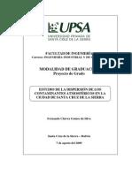 Estudio de la Dispersión de los Contaminantes Atmosféricos en la Ciudad de Santa Cruz de la Sierra