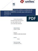 Tarea 8.2  Reporte de análisis y evidencia de decisión 4 SIMPRO enviada (que afectará el período 5)
