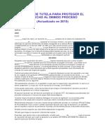 ACCIÓN DE TUTELA PARA PROTEGER EL DERECHO AL DEBIDO PROCESO