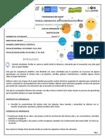 GUIA DE APRENDIZAJE 20 COMPETENCIA CIENTIFICA 5°