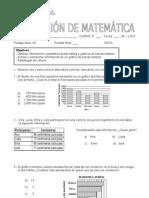 Evaluación Gráficos 3º - Mayo