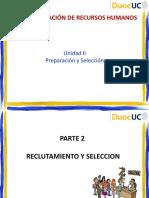 Unidad 2 Clase 3 Reclutamiento y Seleccion