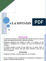 LA SINTAXIS Y TIPOS DE ORACION 1