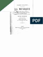 Antoine Fabre d'Olivet - Muzica Explicată CA Știință Și CA Artă Și Considerată În Relația Sa Analogică Cu Misterele Religioase, Mitologia Antică Și Istoria Pământului (1896)