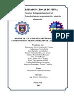 Higiene de Los Alimentos - Microbiología, Etas y Conservación y Almacenamiento de Los Alimentos.