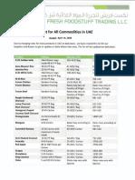 Rate List 16 April 2020
