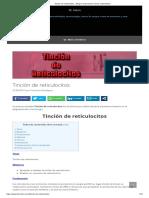 Tinción de reticulocitos - Blog de Laboratorio Clínico y Biomédico