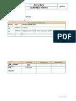 PI-PR06-01 Procédure d'Audit Interne Vvv